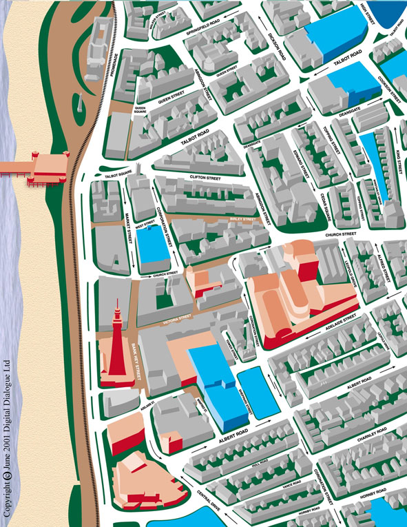 Virtual Blackpool Town Centre Map